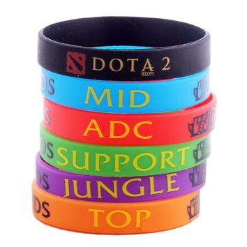 Colorful LOL League of Legend DOTA 2 Wristband Game Party Live Rubber Silicon Men's Women's Bracelet For Man Gifts Jewelry