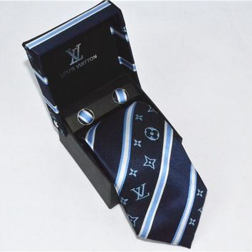 LV Tie cheap fashion accessories luxury brand mens tie Business Casual high quality