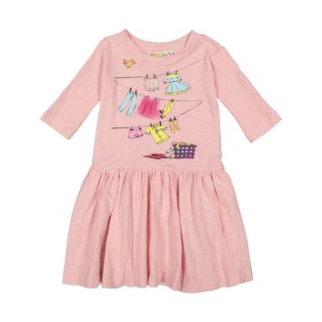 Teela Girls' Smock Laundry Dress