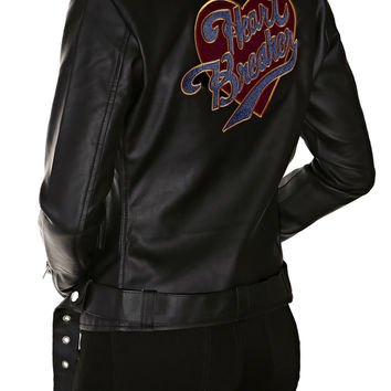 HEARTBREAKER FAUX LEATHER JACKET