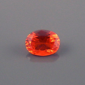 Fire Opal: 0.99ct Cherry Red Oval Shape Gemstone, Loose Natural Hand Made Mexican Faceted Precious Gem, OOAK Cut Crystal Jewelry Supply O31