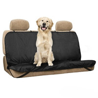 New Pet/Cat/Dog Seat Cover Waterproof Mat Car Back Seat Cover Bench Protector with Belts (Color: Black)