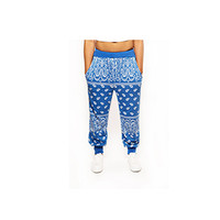 Bandana Joggers – White | Blue | Black | Red (Unisex)