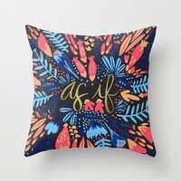 As If – Pink & Black Throw Pillow by Cat Coquillette