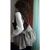 bag / violet and brown / ready to ship by moonaxa on Etsy
