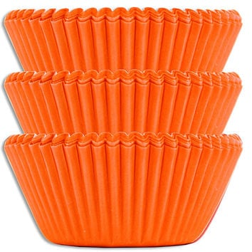 Electric Orange Baking Cups