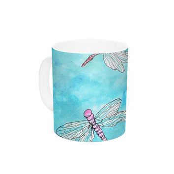 "Rosie Brown ""Dragonfly"" Ceramic Coffee Mug"