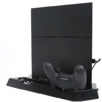 Brand New Dual Cooling Fan Charging Dock Station for PS4 with 3 Port USB HUB