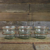 Weck Small Bowl Jars 10.14oz - Set of 6 Glass Jars - 750