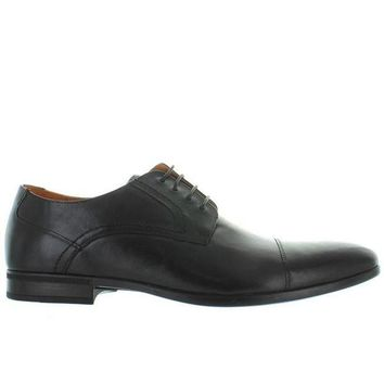 LMFONIG Florsheim Burbank Cap Ox - Black Leather Cap Toe Oxford