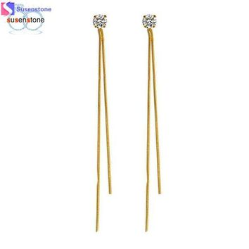 NOVO5 Gold and silver thread earrings