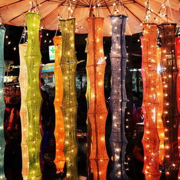 Cotton Handmade Indoor Hanging Lights from Siamlights on Etsy