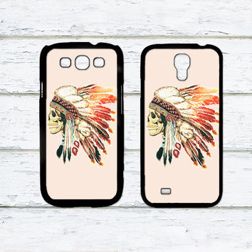 Indian feather skull Phone Case For Samsung Galaxy S6/S5/S4/S3/S2/S5 mini/S4 mini/S3 mini/S5 Active/S4 Active/Note 4/Note 3/Note 2/Ace 3/Ace 2/Ace