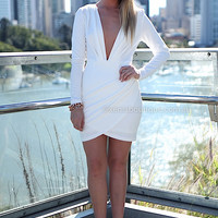 INFINITE NIGHT DRESS , DRESSES, TOPS, BOTTOMS, JACKETS & JUMPERS, ACCESSORIES, 50% OFF SALE, PRE ORDER, NEW ARRIVALS, PLAYSUIT, COLOUR, GIFT VOUCHER,,White,BODYCON,LONG SLEEVES,MINI Australia, Queensland, Brisbane