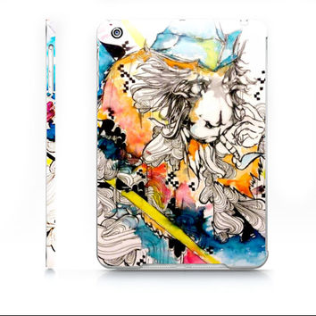 Watercolor iPad case - iPad mini case - Watercolor animal - Monkey Art - Money iPad case - Art iPad case - iPad mini cover - Case for ipad