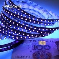 UV Light LED Strip UV Night Fishing Lights Ultraviolet 395-405nm LED Blacklight 5050 3528 SMD Waterproof Boat Strip Lamp