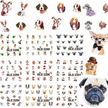 1sets 11 Designs Lovely Designs Cat Series Water Decals Wraps Foils Nail Art Stickers for Nails Tools BLE2292-2302