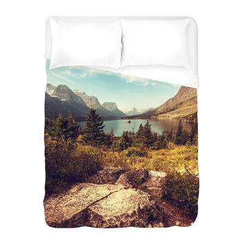 Scenic Glacier National Park Duvet Cover