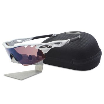 Oakley Custom POLARIZED RADARLOCK Pitch Silver with G30 Vented Mens Sunglasses