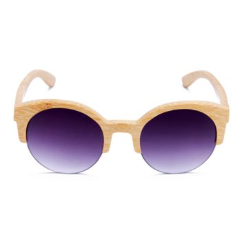 The Natural Brows Bamboo Sunglasses Purple