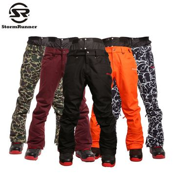 Free shipping NEW winter sports Man snowboard Ski pants ,HIGH QUALITY different color Big code wind proof snowboarding pant