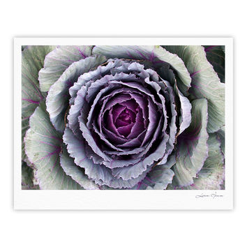 "Susan Sanders ""Flower Love"" Purple Green Fine Art Gallery Print"