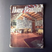 House Beautiful January 1951 Vintage 50s Decor Magazine Atomic Decor Mid Century Modern  Rusel Wright Eva Zeisel