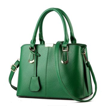 green women handbag shoulder bag tote purse leather messenger hobo bag  number 1