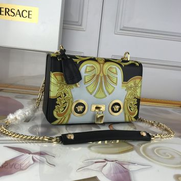 size:24-7-16 cm Versace women shoulder bags handbag Autumn and Winter new arrived colorful yellow Leather Neverfull Tote Handbag Shoulder Bag Shopping Bags Purse Wallet
