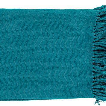 Thelma Throw Blankets in Aqua Color by Surya – BURKE DECOR