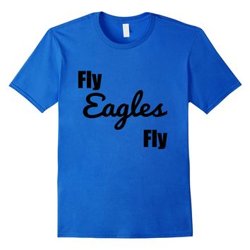 Fly Eagles Fly T Shirt Vintage Sports Team Name Tee Graphic