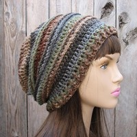 Hand Crochet Hat - Slouchy Hat -Mul.. on Luulla