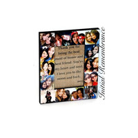Personalized Message Photo Collage Frame, Custom Quote, Unique Maid of Honor Gift, Sister Gift, Unique Birthday Gift, Best Friends Gift