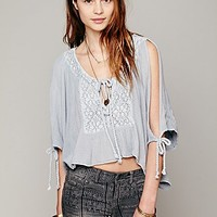 Boxy Open Shoulder Top