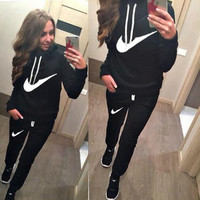 2015 Brand Tracksuit Women Sport Suit Hoodie Sweatshirt+Pant Jogging Femme Marque Survetement Sportswear 2pc Set