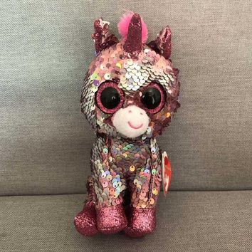 Ty Beanie Boos Unicorn penguin Plush Animal Toy Doll 6&15cm
