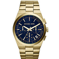 Michael Kors Men's Channing Chronograph Watch - Gold/Navy