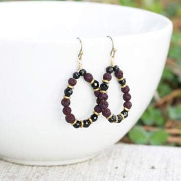 'Soothing' Onyx Aromatherapy Earrings