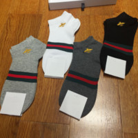 GUCCI couple models fashion bee embroidery socks gift box four pairs