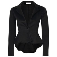 New Fashion Women One Button Slim Casual Business Blazer Suit Jacket Coat Outwear Comfortable Coat
