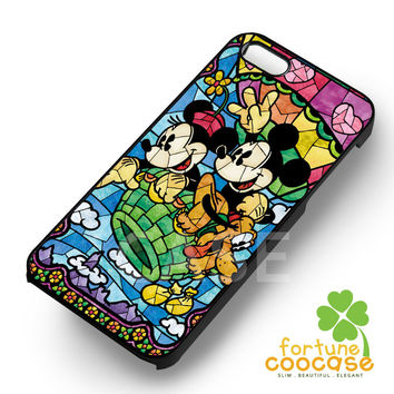 Disney Mickey and Minnie Mouse stained glass balloon -5arw for iPhone 6S case, iPhone 5s case, iPhone 6 case, iPhone 4S, Samsung S6 Edge
