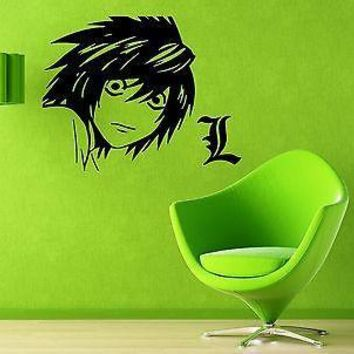 Wall Vinyl Sticker Decal Japanese Cartoon Teen Death Note Anime Manga Unique Gift (z1938)