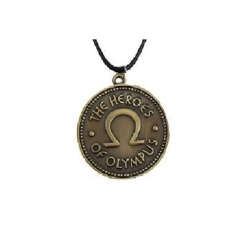 Heroes Of Olympus Coin Double Side Pendant Necklace