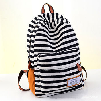 Fashion Canvas Women Backpacks Preppy Style School