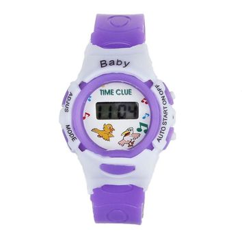Electronic digital wrist watch for boys and girls