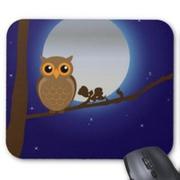 Cute Owl By The Moonlight