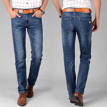 Denim Slim Stretch Casual Pants [6541374723]