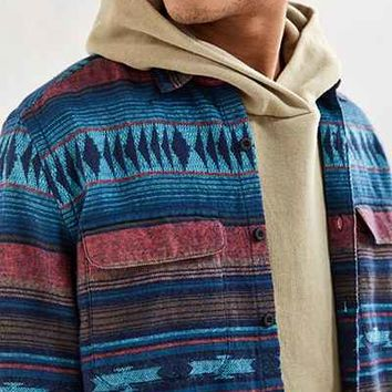 UO Blanket Jacquard Flannel Button-Down Shirt - Urban Outfitters