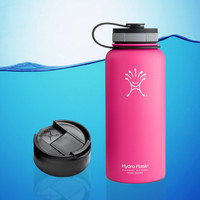 Hydro Flask 32 Oz Insulated Stainless Steel Water Bottle Pink + Hydro Flip Cap