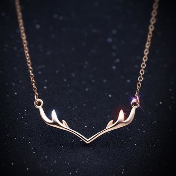 Gift Jewelry New Arrival Stylish Shiny Korean Simple Design 925 Silver Lovely Accessory Necklace [11203383367]